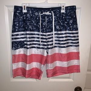 Old Navy American Flag Board Short Bathing Suit